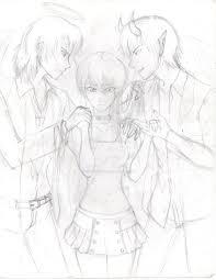 conscience sketch by ichiko senpai on deviantart