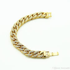 luxury bracelet gold chains images Men 39 s luxury simulated diamond fashion bracelets bangles high jpg