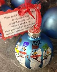 ornament with handprint snowmen adorable keepsake to make for