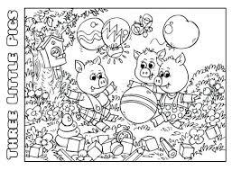 pigs coloring book template design