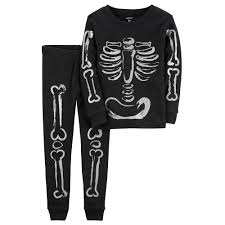 Halloween Skeleton Bodysuit Carter U0027s Halloween Skeleton Top U0026 Bottoms Pajama Set
