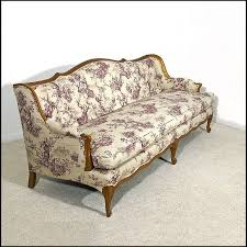 French Provincial Armchair French Provincial Style Tufted Sofa Newly Upholstered From Oh On