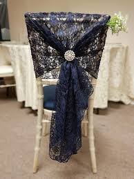 navy blue chair sashes chair organza sash hire for weddings events the event hire company