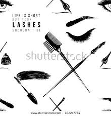 professional makeup artist tools professional makeup artist background vector seamless stock vector