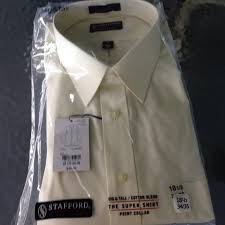 56 off stafford other stanford big u0026 tall ecru dress shirt from