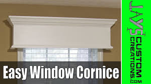easy diy window cornice 177 youtube