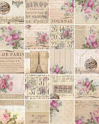 chic wrapping paper digital downloads shabby chic wrapping paper floral atc