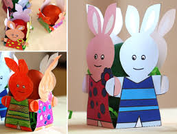 Easter Decoration Ideas Paper by Easter Craft Ideas Paper Bunnies Eggcup Colored