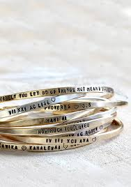 personalized silver bracelets personalized sterling silver and brass stacking cuff bracelets