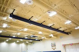 Gym Light Fixtures Top Roll Gym Divider Curtain Arizona Courtlines Inc 623 939 8126