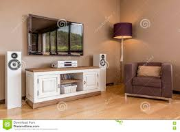 functional tv living room idea stock photo image 79604319