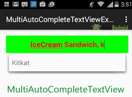 tutorial android multi tool multiautocompletetextview with exle in android studio