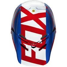 red motocross helmet fox v4 libra motocross helmet blue red 2016 mxweiss motocross shop