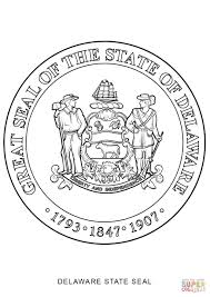 delaware state seal coloring page free printable coloring pages