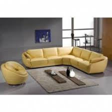 Modern Yellow Sofa Yellow Leather Sectional Foter