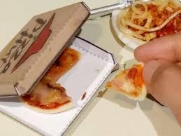 hygi鈩e cuisine mini food ham cheese pizza hut diy miniature cooking sound