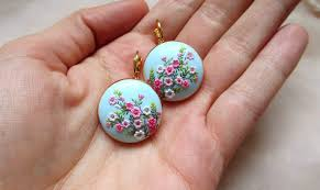 japan earrings earrings handmade jewelry blossoms japan flickr
