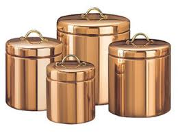 copper canister set kitchen 4 pc copper canister set by