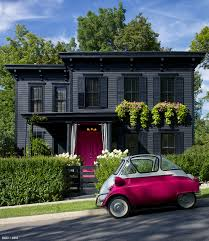 pink and black cars restyling a garden house paint it black blog roger chris