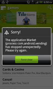 android vending fix the application process android vending has stopped