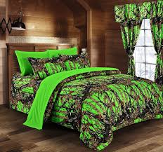 day glow green camo bed in a bag set the sw company