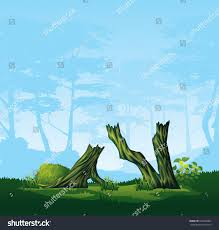 high quality illustration colorful broken trees stock vector