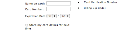 date format format the expiration date fields exactly as the credit card 40