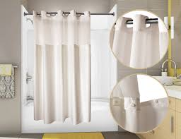 Hookless Shower Curtain Pre Hooked Duet Shower Curtain W Snap In Liner Wholesale Linens
