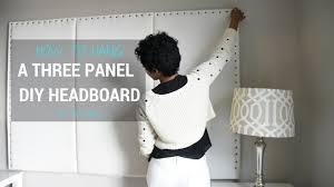 How To Hang A Canvas Diy Headboard How To Hang A 3 Panel Headboard Youtube