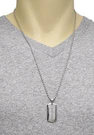 stainless ball chain necklace images Sterling silver thin vertical engravable bar pendant wholesale jpg