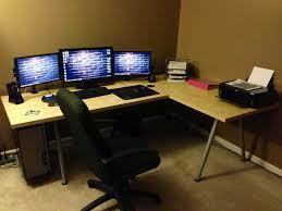 best corner desk for 3 monitors desk u shaped computer desks 3 awesome u shaped computer desk