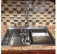 Kitchen Sink Deep 33 X 22 Top Mount Single Bowl Kitchen Sink Drop In 304 Stainless