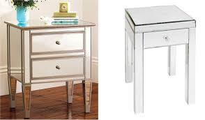 White And Mirrored Bedroom Furniture Bedroom Furniture Square Mirror Bed Side Table With Single