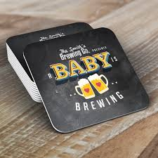 digital logo file baby is brewing coed baby shower