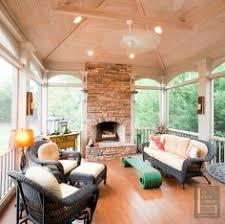 Screen Porch Fireplace by Portfolio The Porch Companythe Porch Company Sunroom