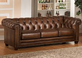 Chesterfield Sofa Brown Amax Hickory Leather Chesterfield Sofa Reviews Wayfair