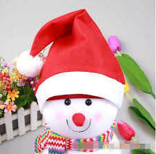 Decoration Christmas Hat by Decoration Christmas Hat Christmas Fabric Holidy Supply