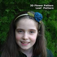 crochet flower headband 3d crochet flower pattern boho crochet applique diy crochet
