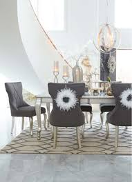 silver dining room table d650d1 in by ashley furniture in tulsa ok coralayne silver