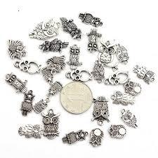 necklace pandora style images Buy 30pcs lot mix alloy owl beads big hole charm jpg