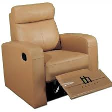 apartment size recliner chair in taupe color top grain aptdeco