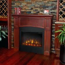mahogany electric fireplace tv stand even glow wood trim heater