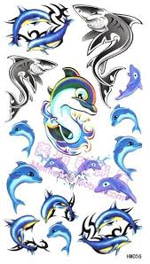 colorful dolphin tattoo design