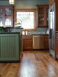 beautiful reclaimed wood floor for kitchen have kitchen cabinet