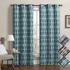 Teal Blackout Curtains Meridian Room Darkening Grommet Top Window Curtain Drapes Thermal
