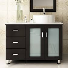designer bathroom vanities cabinets jwh living lune 39 single vessel modern bathroom vanity set