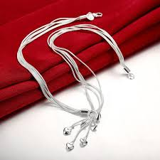sterling silver necklace pendants images Fashion 925 sterling silver necklaces for women jewelry heart jpg