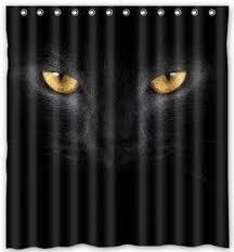 black cat shower curtain promotion shop for promotional black cat