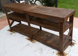 Media Console Table Diy Pallet Tv Console Table