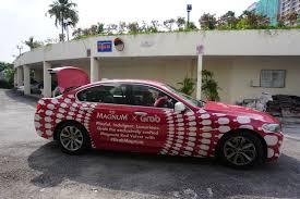 red velvet car grab x magnum neverstopplaying grabmagnum foodievstheworld